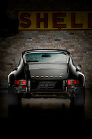 Rear View of a restored Porsche 911 photography and conception by Richard Furhoff retouching by Darren Purbrick at Brickworks imagery