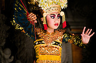 Indonesia, Bali. Girl performing a legong dance - one of the most important traditional balinese dances.