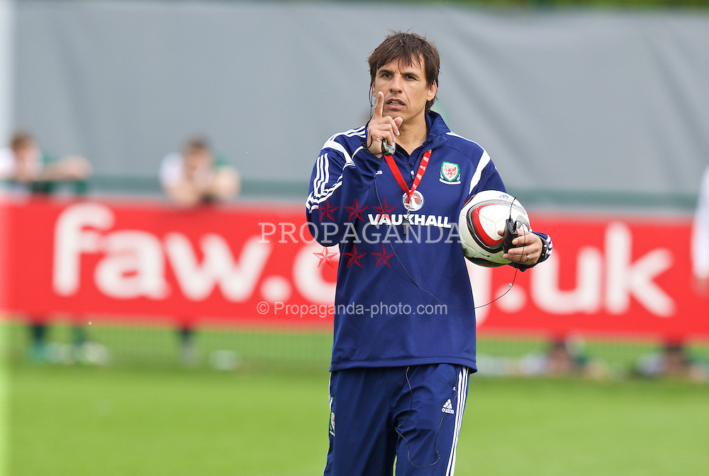 NEWPORT, WALES - Saturday, May 30, 2015: Wales' manager Chris Coleman during the Football Association of Wales' National Coaches Conference 2015 at Dragon Park. (Pic by David Rawcliffe/Propaganda)