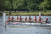 Henley. Berks, United Kingdom. <br /> <br /> Ohio State University competing in the Elite Women's Eight at the 2017 Henley' Women's Regatta. Rowing on, Henley Reach. River Thames.  <br /> <br /> Sunday  18/06/2017<br /> <br /> [Mandatory Credit Peter SPURRIER/Intersport Images]