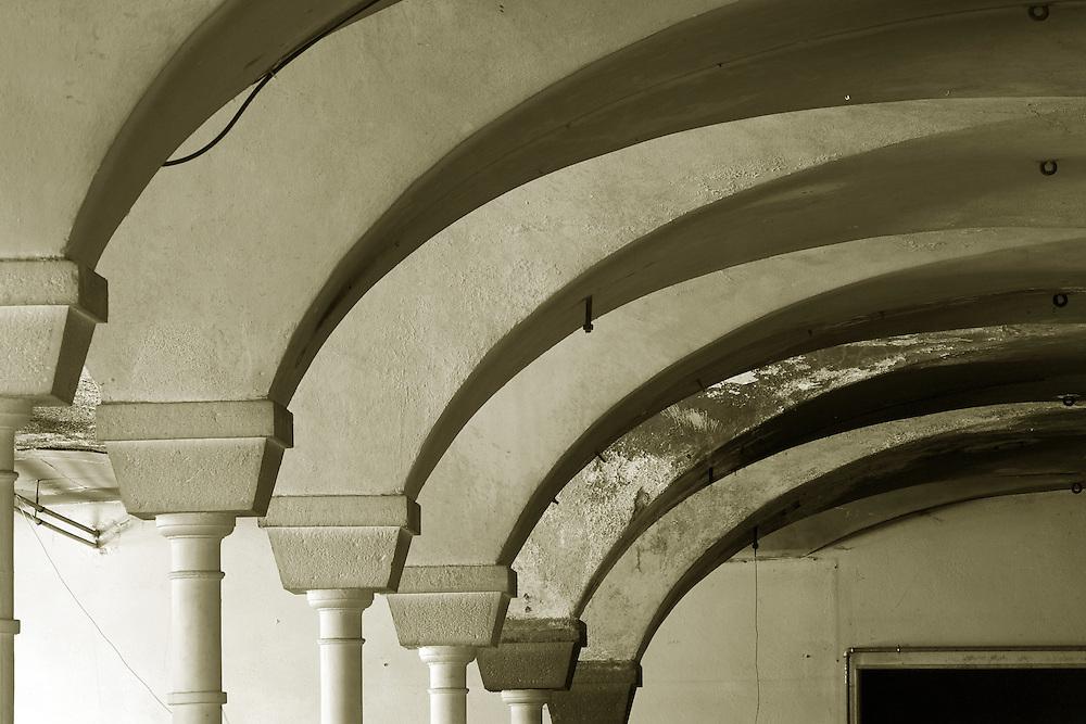 Interior of Usine De La Schappe, Briancon, Unesco World Heritage Site. France