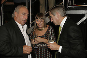 SIR PHILIP GREEN, HILARY ALEXANDER AND STUART ROSE , Westfield launch at the BFC tent prior toLondon Fashion week. 17 September 2006. ONE TIME USE ONLY - DO NOT ARCHIVE  © Copyright Photograph by Dafydd Jones 66 Stockwell Park Rd. London SW9 0DA Tel 020 7733 0108 www.dafjones.com