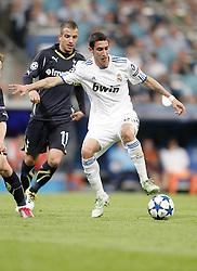05-04-2011 VOETBAL: UEFA CL REAL MADRID - TOTTENHAM HOTSPUR: MADRID<br /> Rafael van der Vaart against Angel Di Maria <br /> *** Netherlands only ***<br /> ©2010-FRH- NPH/ Alvaro Hernandez