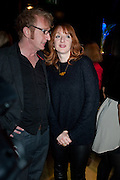STEFFAN RHODRI; ELIZABETH BERRINGTON, Absent Friends - press night  afterparty. Mint Leaf. Haymarket. London. Thursday 9 February 2012