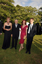 Left to right, JULIA PEYTON-JONES, DENNIS HOPPER, his wife VICTORIA and his son HENRY HOPPER at the annual Serpentine Gallery Summer Party in association with Swarovski held at the gallery, Kensington Gardens, London on 11th July 2007.<br />