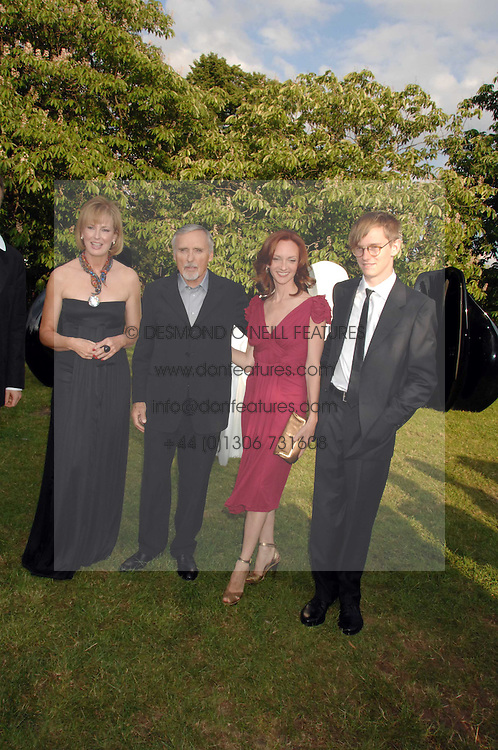 Left to right, JULIA PEYTON-JONES, DENNIS HOPPER, his wife VICTORIA and his son HENRY HOPPER at the annual Serpentine Gallery Summer Party in association with Swarovski held at the gallery, Kensington Gardens, London on 11th July 2007.<br /><br />NON EXCLUSIVE - WORLD RIGHTS