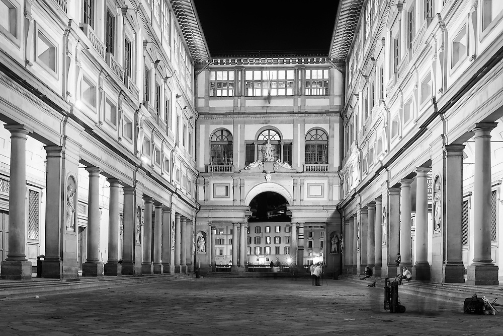 Uffizi Gallery in Florence, Italy.