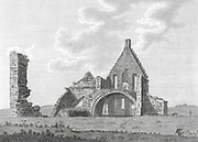 Engraving of Scottish landscapes and buildings from late eighteenth century, Corshill House, Scotland, UK , drawn by S Hooper