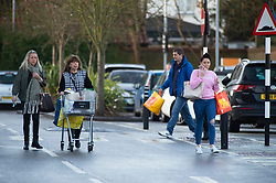 ©Licensed to London News Pictures 24/12/2019. <br /> Bromley ,UK. Early morning Christmas eve food shopping at Sainsbury's in Locksbottom, Bromley, South East London.Photo credit: Grant Falvey/LNP