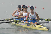 Beijing, CHINA, GBR JW4-, Bow Abby JOHNSTON, Lottie HOWARD-MERRILL, Joanna FITSIMONS and Foina SCHLESINGER, during the 2007. FISA Junior World Rowing Championships Shunyi Water Sports Complex. Wed. 08.08.2007  [Photo, Peter Spurrier/Intersport-images]..... , Rowing Course, Shun Yi Water Complex, Beijing, CHINA,