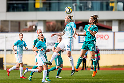 Sara Dabritz of Germany  and Kaja Erzen of Slovenia during football match between Slovenia and Germany in Womans Qualifications for World Championship 2019, on April 10, 2018 in Sports park Domzale, Domzale, Slovenia. Photo by Ziga Zupan / Sportida