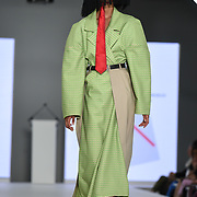 Designer Rosa Cameron at the Best of Graduate Fashion Week showcases at the Graduate Fashion Week 2018, June 6 2018 at Truman Brewery, London, UK.