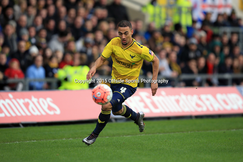 10 January 2016 - The Emirates FA Cup - 3rd Round - Oxford United v Swansea City - Kemar Roofe of Oxford United  - Photo: Marc Atkins / Offside.