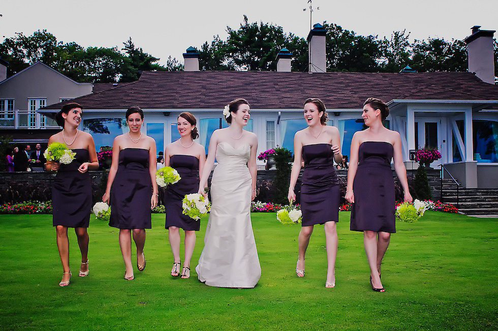 The bride and her girlfriends.