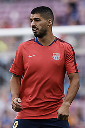 September 18, 2018 - Barcelona, Barcelona, Spain - Luis Suarez of FC Barcelona looks on prior to the UEFA Champions League group B match between FC Barcelona and PSV Eindhoven at Camp Nou on September 18, 2018 in Barcelona, Spain  (Credit Image: © David Aliaga/NurPhoto/ZUMA Press)