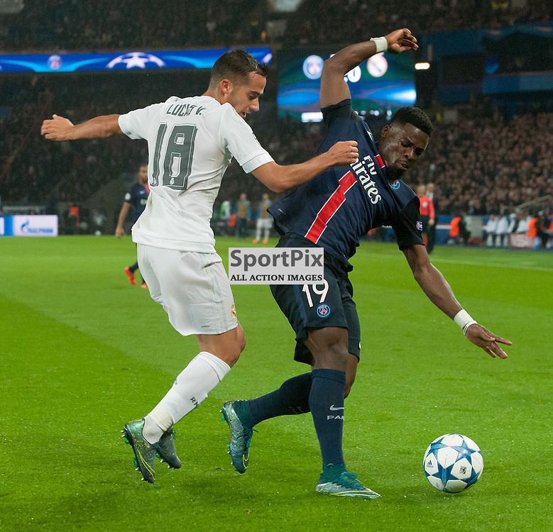 Lucas Vázquez (Real Madrid) and Serge Aurier (Paris Saint-Germain)