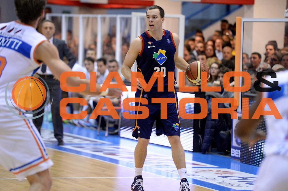 DESCRIZIONE : Brindisi Lega serie A 2013/14 Enel Brindisi Acea Virtus Roma<br /> GIOCATORE : Jimmy Baron<br /> CATEGORIA : Palleggio<br /> SQUADRA : Acea Virtus Roma<br /> EVENTO : Campionato Lega Serie A 2013-2014<br /> GARA : Enel Brindisi Acea Virtus Roma <br /> DATA : 26/01/2014<br /> SPORT : Pallacanestro<br /> AUTORE : Agenzia Ciamillo-Castoria/GiulioCiamillo<br /> Galleria : Lega Seria A 2013-2014<br /> Fotonotizia : Brindisi Lega serie A 2013/14 Enel Brindisi Acea Virtus Roma<br /> Predefinita :