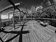 Boardwalk at South Cove in Battery Park City,  New York City.