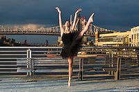 New York City Dance Photography- Dance As Art Gantry State Park with ballerina Dioni Georgitsou