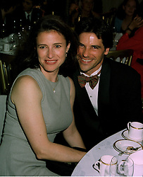 Actress MIMI RODGERS and her husband MR CHRIS CIAFFA, at a reception in London on 7th June 1997.LZA 138