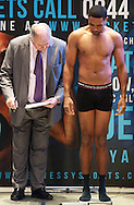 Picture by Alan Stanford/Focus Images Ltd +44 7915 056117<br /> 15/11/2013<br /> James DeGale during his weigh in at Glow Bluewater, Greenhithe.