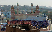 Tie Dye factory and Bikaner cityscape - Rajasthan India 2011