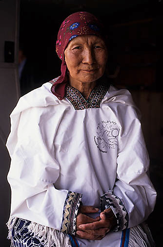 Northwest Territories, known as Nunuvat, Canada. Inuit woman at Baker Lake Art Center.
