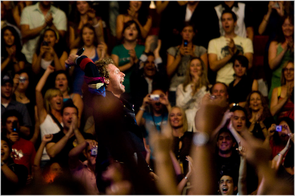 Chris Martin and Coldplay perform at Montreal's Bell Center. PHOTO BY TIM SNOW