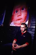 Young man asleep at Inertia Derry Northern Ireland March 2002
