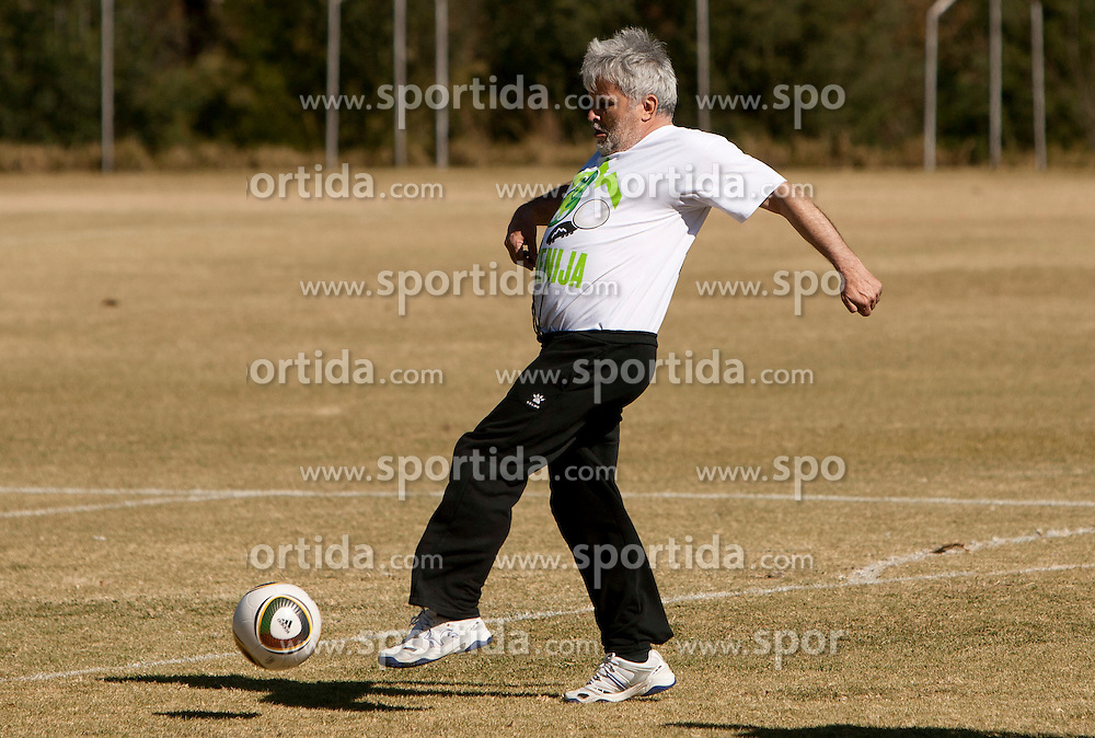 Branko Vekic during friendly match between Slovenian football journalists and officials of Slovenian football federation at  Hyde Park High School Stadium on June 16, 2010 in Johannesburg, South Africa.  (Photo by Vid Ponikvar / Sportida)