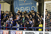 AFC Wimbledon fans in front of Chem Flow end during the EFL Sky Bet League 1 match between AFC Wimbledon and Gillingham at the Cherry Red Records Stadium, Kingston, England on 12 September 2017. Photo by Matthew Redman.
