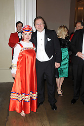 ZEYNEP ASYA and JOHN OSTROUMOFF at the 13th annual Russian Summer Ball held at the Banqueting House, Whitehall, London on 14th June 2008.<br /><br />NON EXCLUSIVE - WORLD RIGHTS