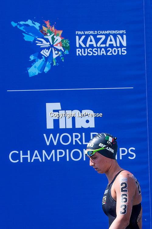 Foto Fabio Ferrari - LaPresse<br /> 28/07/2015 Kazan ( Russia ) <br /> Sport <br /> 16 Campionati del mondo FINA 2015 - Open Water - 10km Donne.<br /> nella foto: Rachele Bruni ( Ita)<br /> <br /> Photo Fabio Ferrari - LaPresse<br /> 28 July 2015 Kazan ( Russian ) <br /> Sport<br /> 16th FINA World Championship 2015 - Open Water - 10km Women.<br /> in the picture:Rachele Bruni ( Ita)