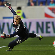Goalkeeper Ryan Meara, New York Red Bulls during warm up before the New York Red Bulls Vs Portland Timbers, Major League Soccer regular season match at Red Bull Arena, Harrison, New Jersey. USA. 24th May 2014. Photo Tim Clayton