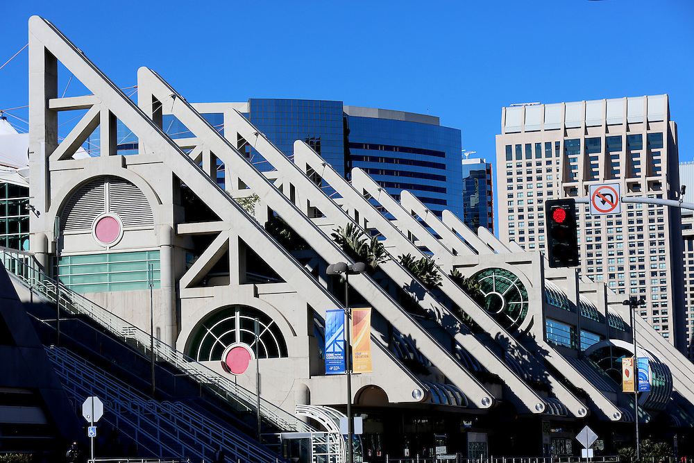 The San Diego Convention Center in Downtown San Diego, CA in the heart of the Gaslamp Quarter In January 2013.