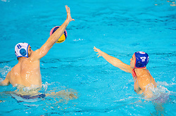 Antonio Petrovic of Primorje vs Alexandros Gounas of Olympiacos during water polo match between Primorje Erste Bank (CRO) and Olympiacos Piraeus (GRE) in 8th Round of Champions League 2016, on April 16, 2016 in Kantrida pool, Rijeka, Croatia. Photo by Vid Ponikvar / Sportida