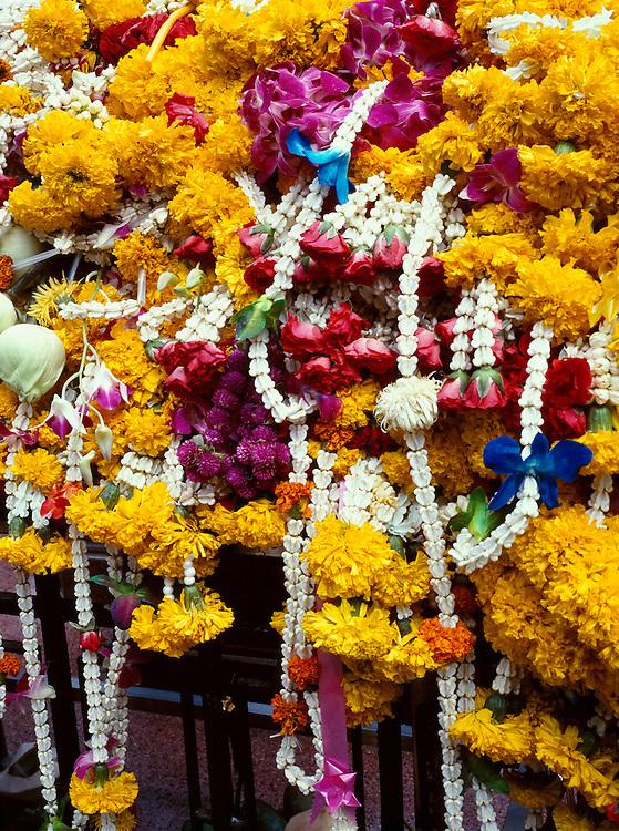 Flower garlands at the Erawan Shrine