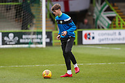 Forest Green Rovers Jordan Stevens(35) warming up during the EFL Sky Bet League 2 match between Forest Green Rovers and Luton Town at the New Lawn, Forest Green, United Kingdom on 16 December 2017. Photo by Shane Healey.