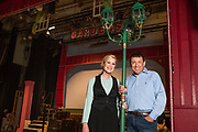 "JULY 8, 2018  LANCASTER, OHIO:<br /> <br /> Director of Theater at Ohio University Lancaster, A. Victor Jones (right), and actress and long time best friend, Jennifer Myers, stand on stage in the Wagner Theater during a rehearsal for the production of ""Hello, Dolly!"" at Ohio University Lancaster."