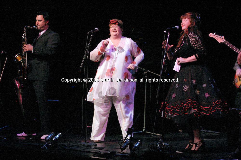 The Mysterons performing at In praise of an English radical - A Celebration of Linda Smith, Lyceum Theatre Sheffield.