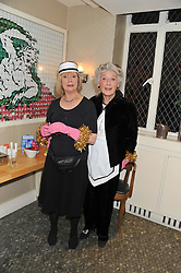 Left to right, JOANNA DAVID and PHYLLIDA LAW at One Night Only at The Ivy held at The Ivy, 1-5 West Street, London on 2nd December 2012.