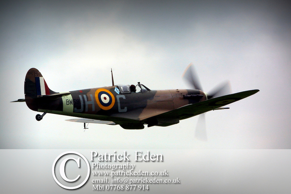 Battle Britain Memorial Flight Spitfire. Bembridge Airport Air Show  Isle of Wight photography photograph canvas canvases
