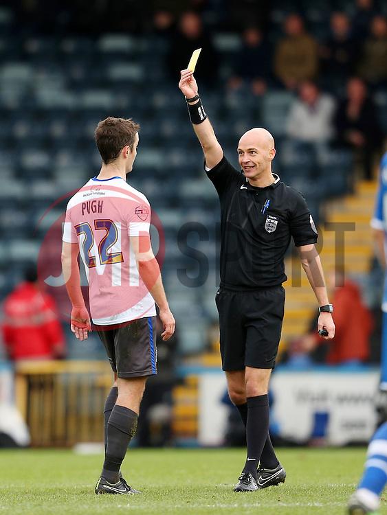 Danny Pugh of Bury receives a yellow card  - Mandatory byline: Matt McNulty/JMP - 06/12/2015 - Football - Spotland Stadium - Rochdale, England - Rochdale v Bury - FA Cup