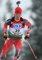 Jean Philippe Leguellec (CAN) at Men 20 km Individual at E.ON Ruhrgas IBU World Cup Biathlon in Hochfilzen (replacement Pokljuka), on December 18, 2008, in Hochfilzen, Austria. (Photo by Vid Ponikvar / Sportida)