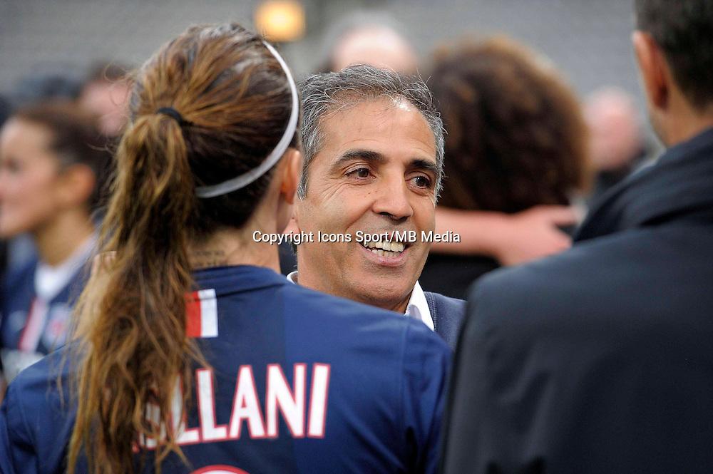 Joie PSG - Farid Benstiti - 26.04.2015 - Paris Saint Germain / Wolfsbourg - 1/2Finale Champions League feminine<br />Photo : Andre Ferreira / Icon Sport