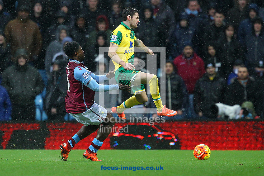 Robbie Brady of Norwich and Micah Richards of Aston Villa in action during the Barclays Premier League match at Villa Park, Birmingham<br /> Picture by Paul Chesterton/Focus Images Ltd +44 7904 640267<br /> 06/02/2016
