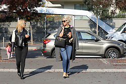 EXCLUSIVE: Wanda Nara wife of Inter football player Mauro Icardi buy a new house in Milan in the same building of Chiara Ferragni and Fedez. 03 Nov 2017 Pictured: Wanda Nara and Sister. Photo credit: Mr. Flan / MEGA TheMegaAgency.com +1 888 505 6342