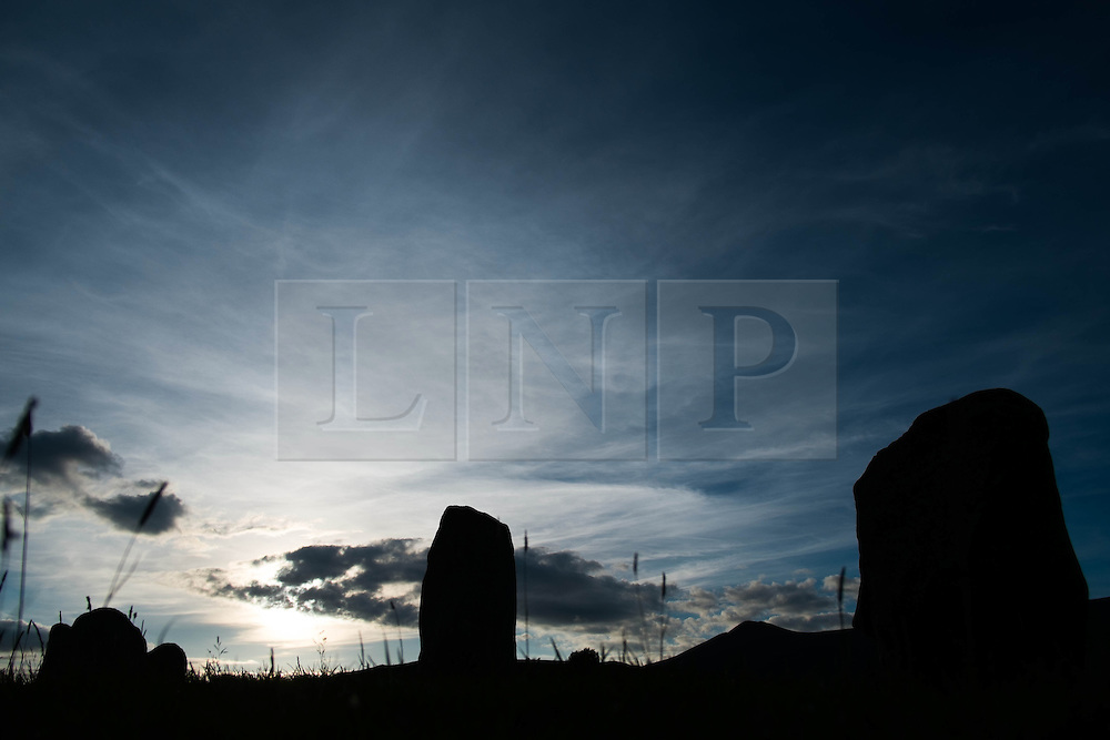 © Licensed to London News Pictures. <br /> 20/06/2014. <br /> <br /> Castlerigg Stone circle, Cumbria, England<br /> <br /> Castlerigg Stone Circle near Keswick in Cumbria on the evening of the Summer Solstice.<br /> <br /> Photo credit : Ian Forsyth/LNP