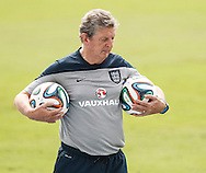England manager Roy Hodgson during the England training session at Est&aacute;dio Claudio Coutinho, Rio de Janeiro, Brazil<br /> Picture by Andrew Tobin/Focus Images Ltd +44 7710 761829<br /> 21/06/2014