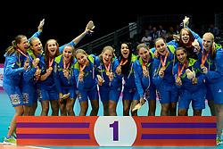 19-07-2013 VOLLEYBAL: EYOF CEREMONIE: UTRECHT<br /> Slovenie met de gouden medaille<br /> (Photo by Ronald Hoogendoorn / Sportida.com)